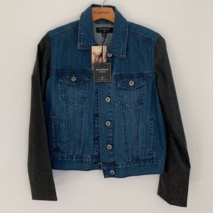 Urban Outfitter Bycorpus Denim/Leather Jacket S